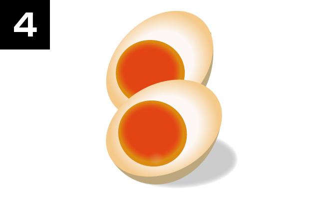 半熟卵の作り方その4